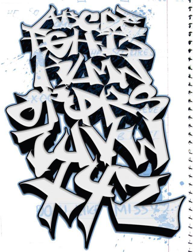 graffiti alphabet 3d, graffiti schrift 3d, graffiti buchstaben 3d