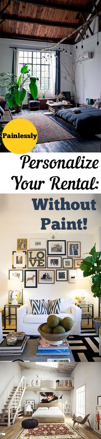 Painlessly Personalize Your Rental Without Paint! Renter Friendly Decor,  DIY Home, Home Decor