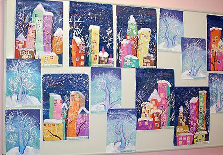 Детский рисунок на тему осень, зима, весна, лето смотреть ...