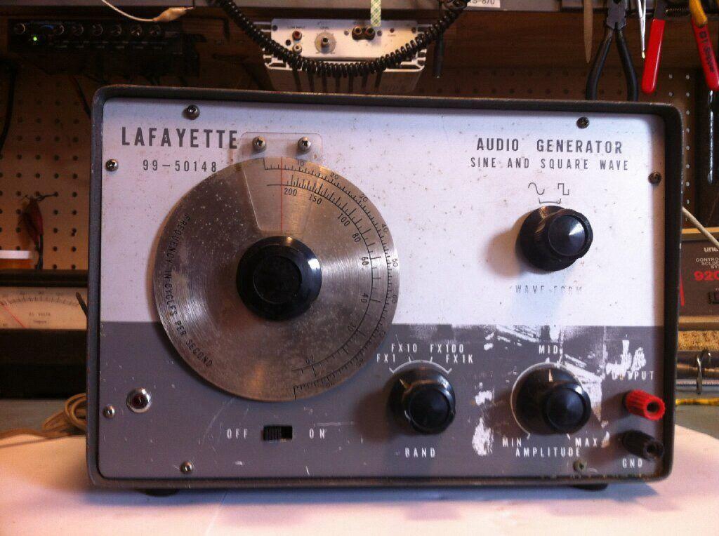 Audio Signal Generator : Vintage lafayette audio signal generator electronic