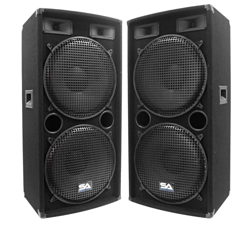 Seismic Audio Pair Of Dual 15 Pa Dj Speakers 1000 Watts Pro Audio Band Bar Wedding Church Caixas Acusticas Instrumentos Som