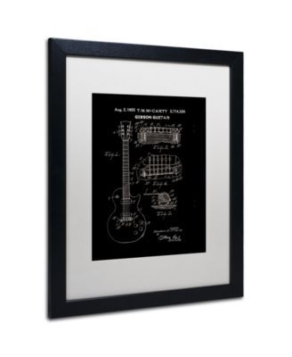 Claire Doherty '1955 Mccarty Gibson Guitar Black' Matted Framed Art - 16 x 20 - Multi #gibsonguitars