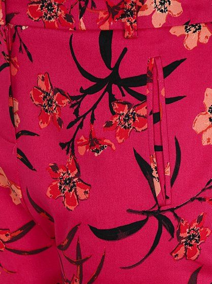 0bc35510a5 Floral Print Woven Trousers