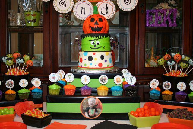 Halloween First Birthday Halloween Party Ideas Photo 4 Of 24 Halloween First Birthday Birthday Halloween Party Halloween 1st Birthdays