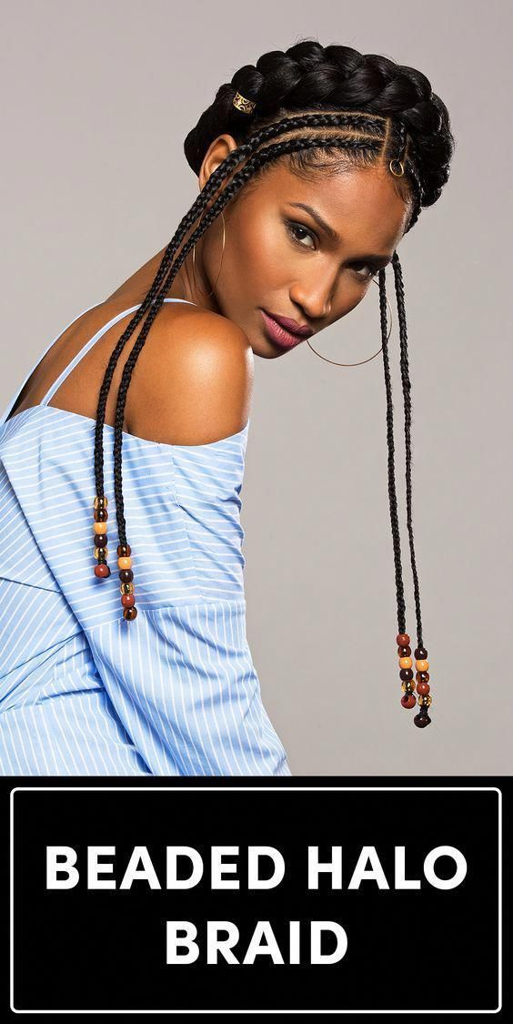Fulani Braids Hairstyle for Afro-American Women  Super-Long Dark Braids with Cuffs #braidedhairstylesforblackwomen Fulani Braids Hairstyle for Afro-American Women  Super-Long Dark Braids with Cuffs
