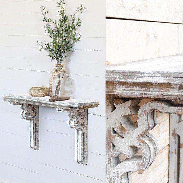 Mount Our White Mantle Corbel Shelf In Your Living Room Dining Bedroom Or Bathroom For More Shelves Please Visit Decor Steals