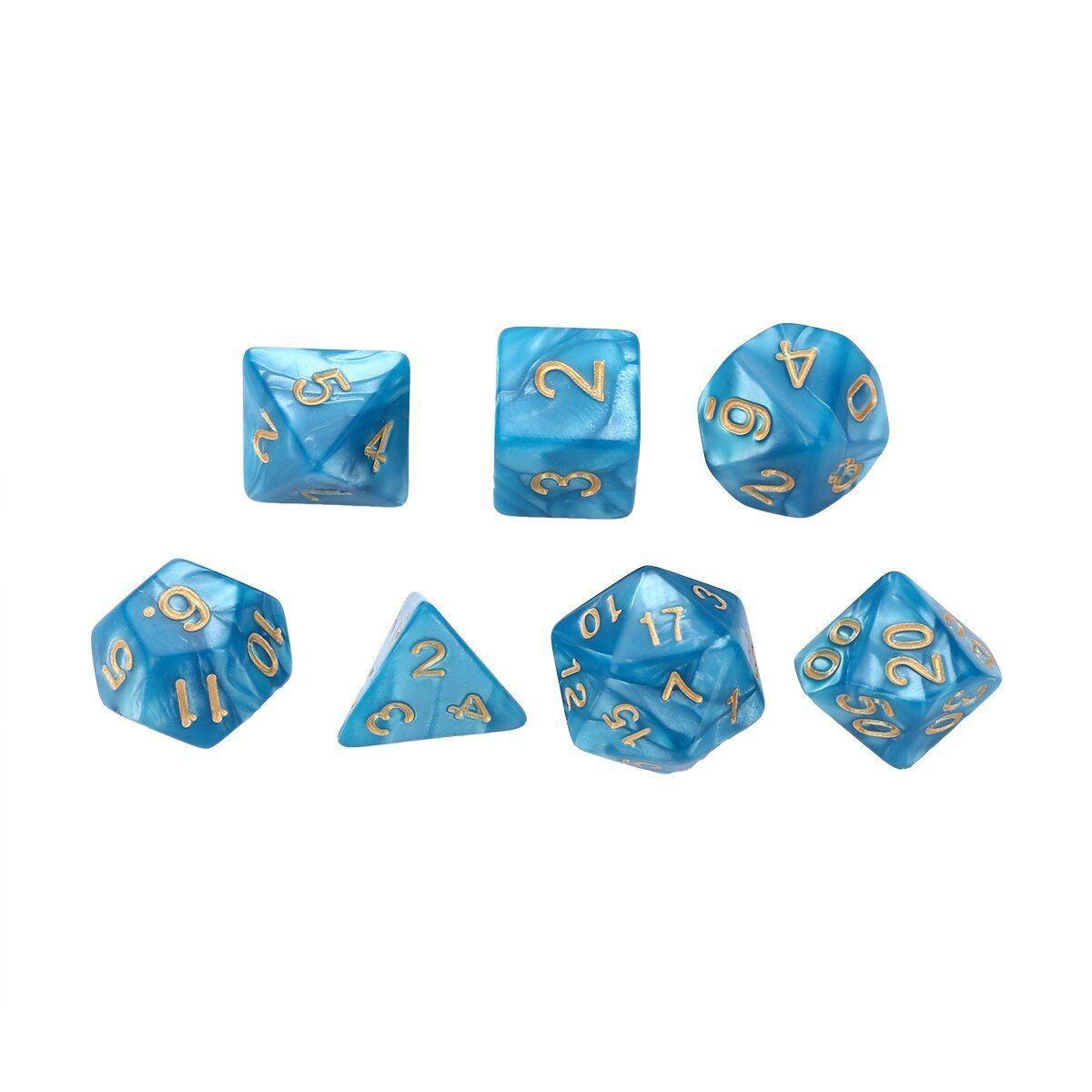 35pcs Polyhedral Dice D20 D12 D10 D8 D6 D4 für Dungeons /& Dragons
