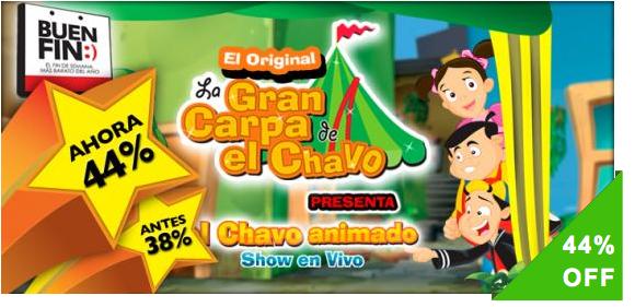 """¡La Gran Carpa de El Chavo Animado este BUEN FIN, el """"SHOW"""