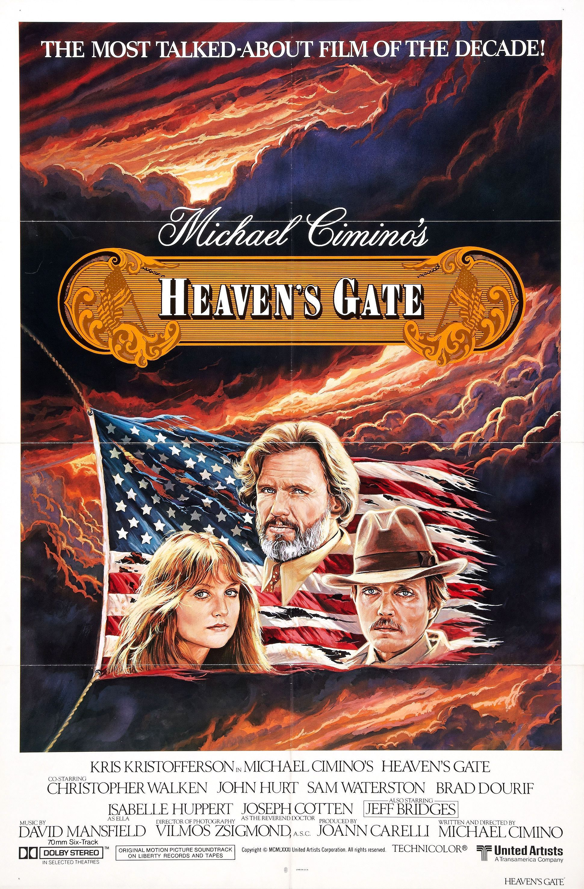 """""""Heaven's Gate"""" movie poster, 1980. If you know the story"""