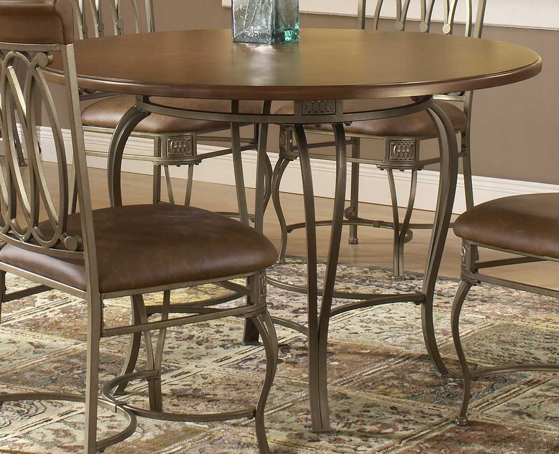 Hillsdale Montello Round Dining Table 45 Inch Kitchen Table