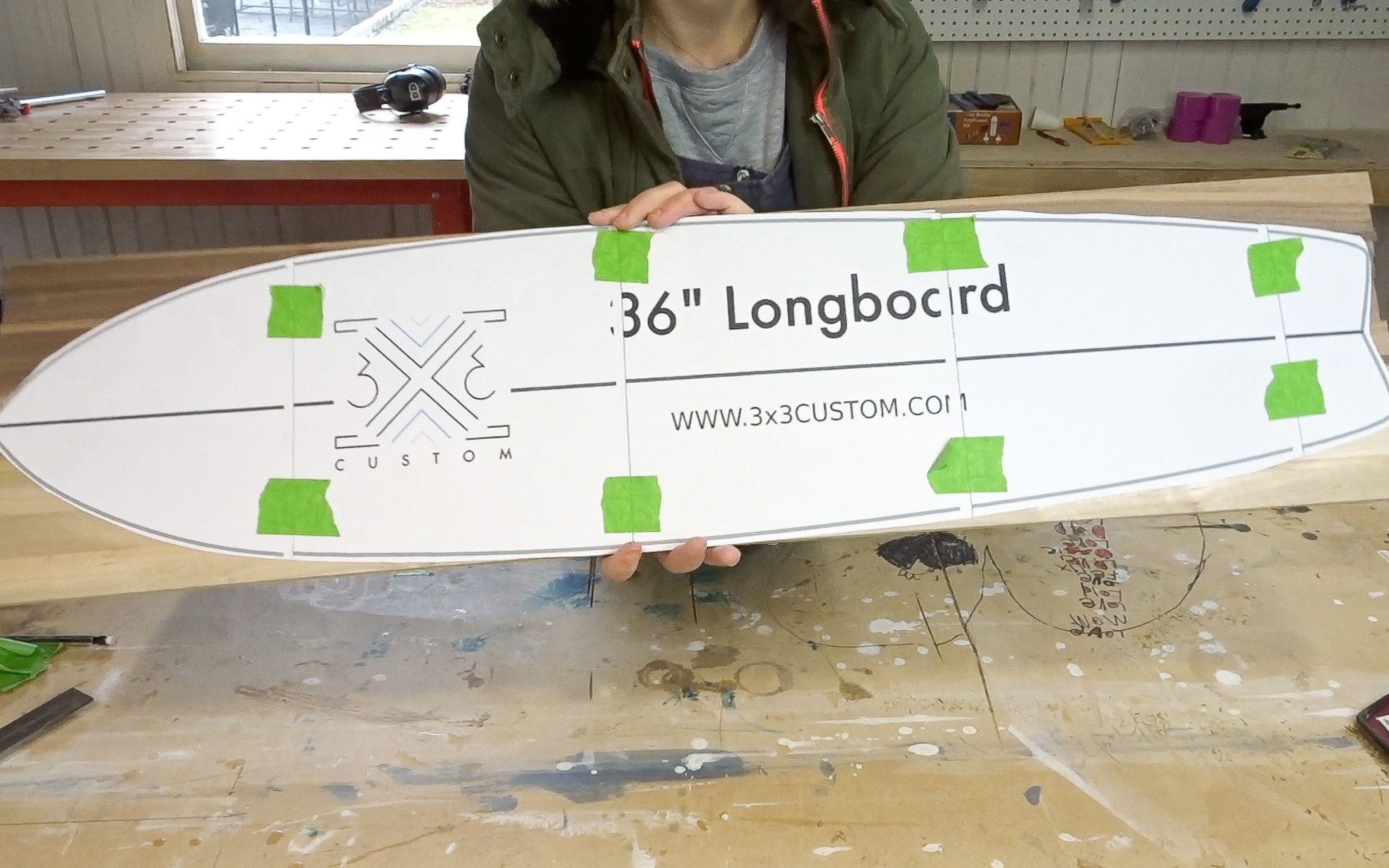image about Longboard Template Printable identified as Pin upon No cost Challenge Applications and Tutorials towards 3x3 Tailor made