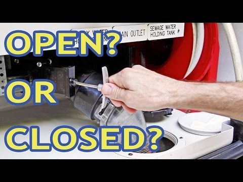 Do You Keep Your Rv Gray Tank Valve Open Closed How