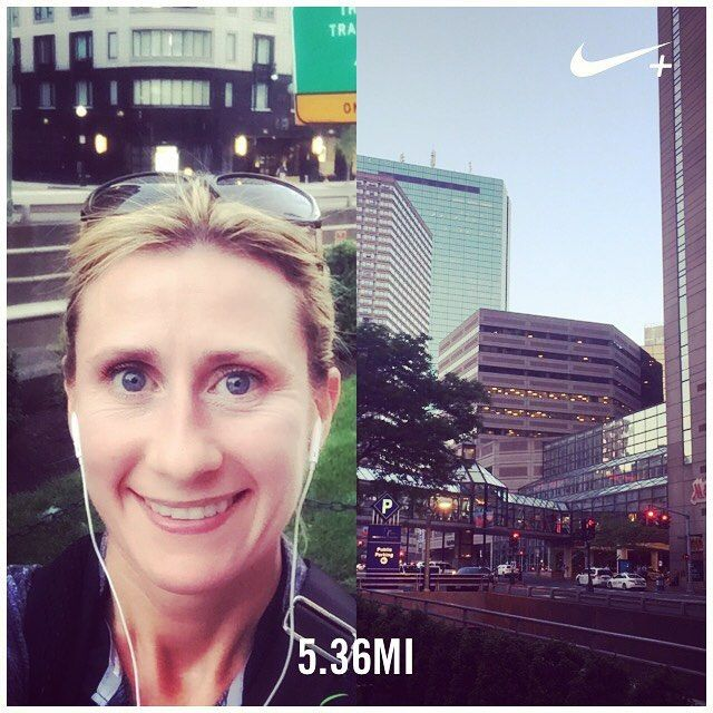 Boston you were hot for my liking today but you sure are a pretty place to run  #NIKE #NIKERUNNING #NIKEBOSTON #NRC #COMERUNWITHUS