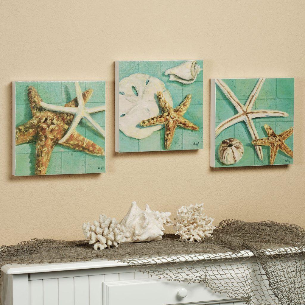 Starfish Wall Decor Bathroom