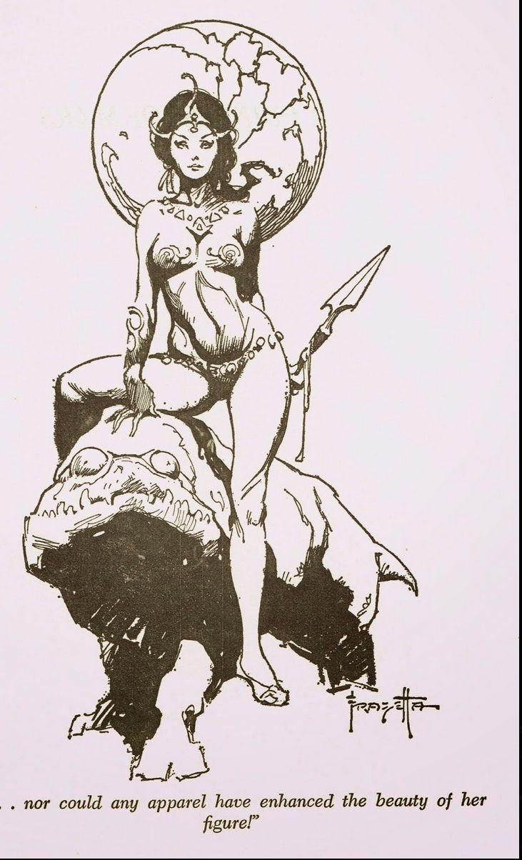FRANK FRAZETTA - A Princess of Mars - item by capnscomics.blogspot ...