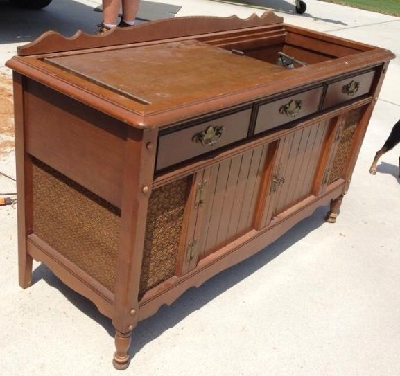 New Life To An Old Record Player Stereo Cabinet Painted Furniture Repurposing Upcycling Avec Images
