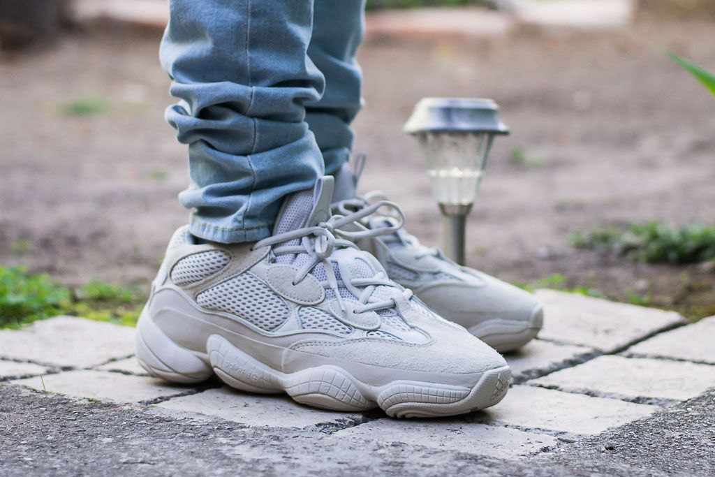 Adidas Yeezy 500 Blush On Feet Sneaker Review