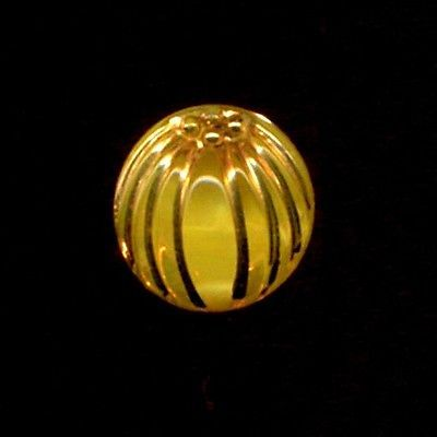 Vintage Glass Button...PICTORIAL MOONGLOW... YELLOW PUMPKIN...Small-Small in Antiques, Sewing (Pre-1930), Buttons | eBay