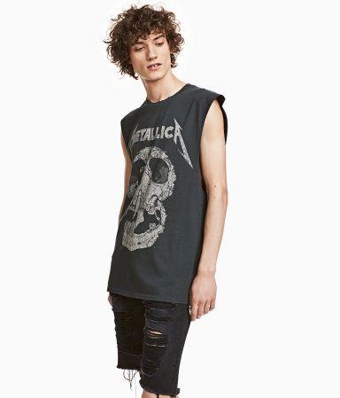 Tanktop mit Druck   Svart/Metallica   Herren   H&M DE   mode   Pinterest