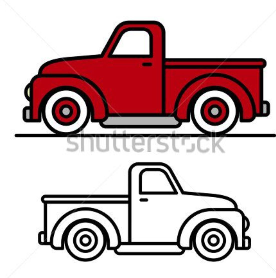 Truck Painted Rock Idea Christmas Red Truck Vintage Pickup Trucks Red Truck