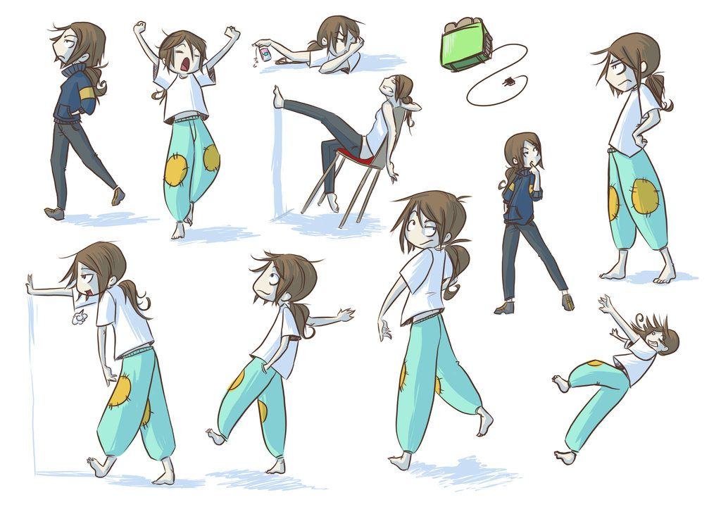Character Design Group : Poses by doodler bunny viantart on deviantart