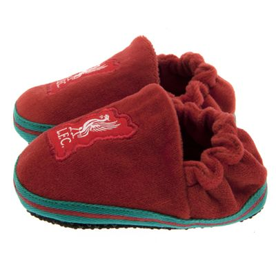 Liverpool Boys Slippers Liverpool FC Official Football Slippers Size 3-6