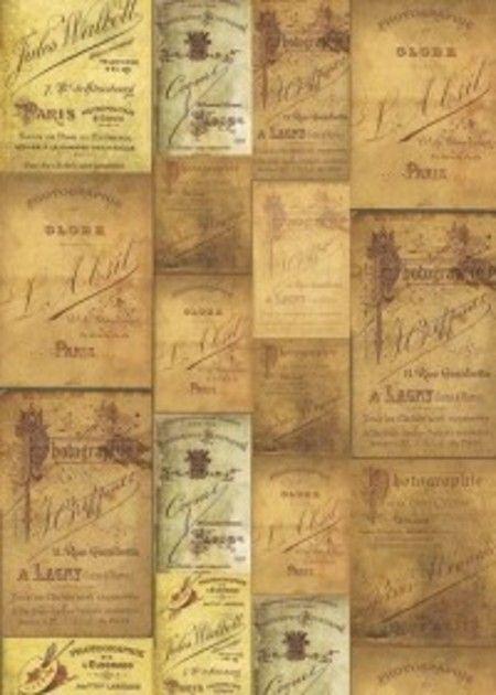 Tecido Adesivo Bobina Cartão Vintage 3,00m x 0,50m - Lemy Presentes - Loja Virtual http://www.lemypresentes.com.br/