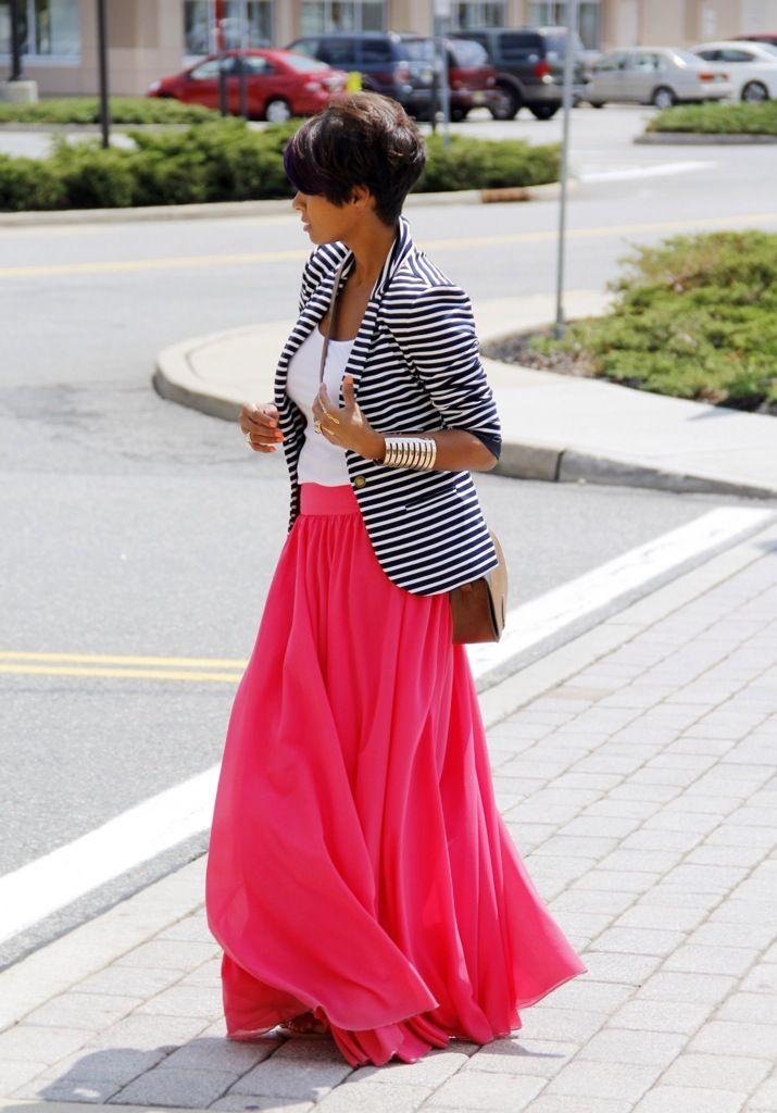 Maxi Skirt & Blazer