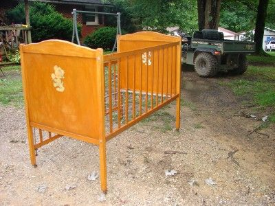 Details About Antique Wooden Four Poster Rattan Bed Doll