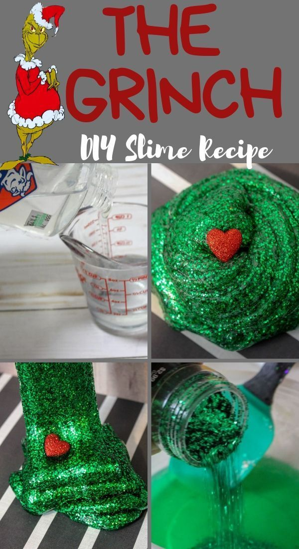 Everyone loves slime! A classic Christmas movie, turned into a DIY Christmas Slime! This Christmas Grinch Slime is the perfect craft for the Christmas season! #christmas #crafts #slime #christmasslime #christmascrafts #thegrinch