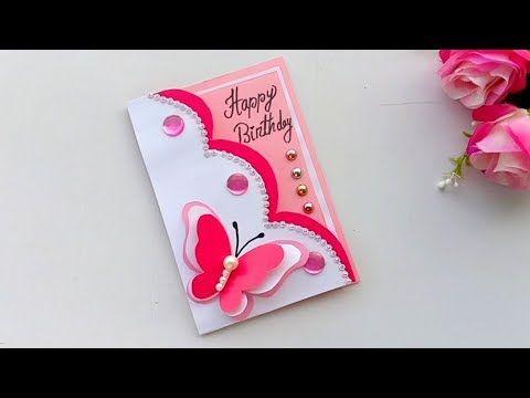 Beautiful Handmade Birthday Card Birthday Card Idea Youtube Handmade Bday Cards Cards Handmade Handmade Birthday Cards