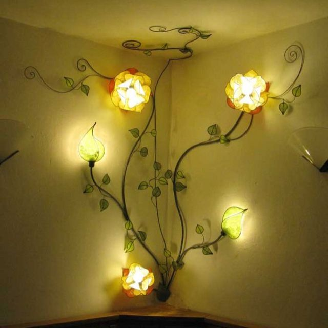 Wall Light Creative Wall Decor Creative Walls Flower Wall Decor
