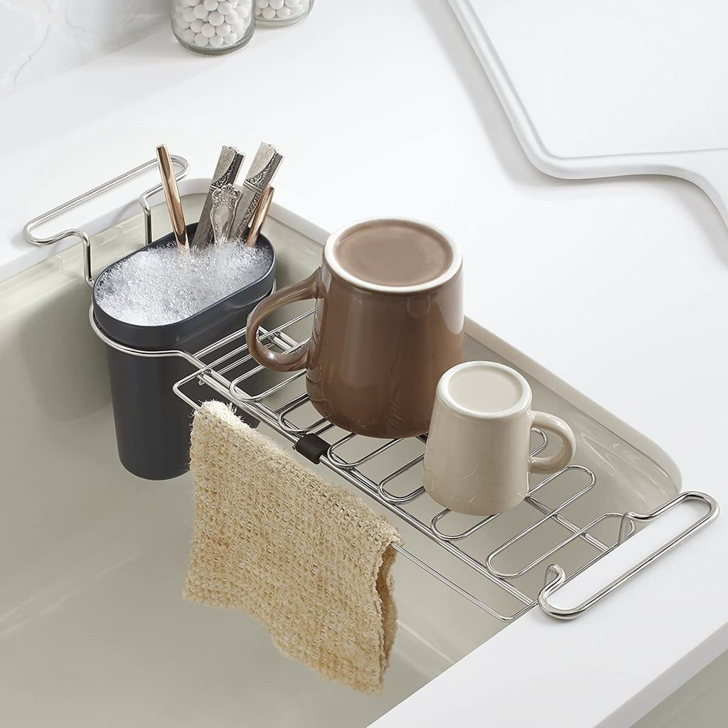 28 cool kitchen products i never knew i needed until i saw them on tiktok in 2020 sink drying on kitchen organization tiktok id=92585