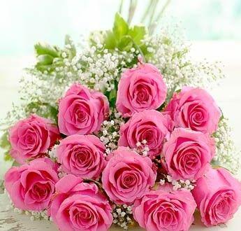 اجمل صور باقات ورد طبيعي ميكساتك Flower Delivery Pink Rose Bouquet Rose Flower