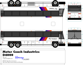 Paper Model Buses Sp Papel Modelismo Papercraft Nj Transit Bus