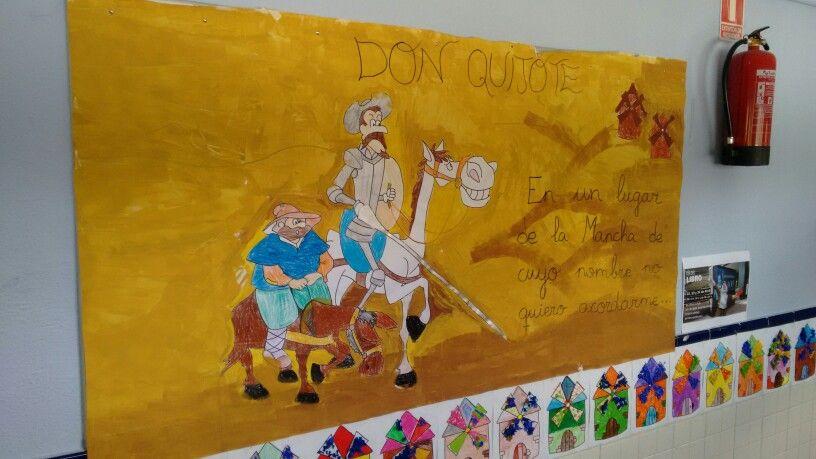Decoración del pasillo Quijote