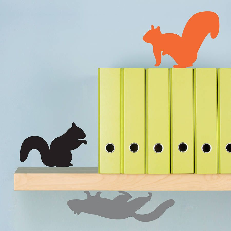 Three Squirrels Wall Stickers | Squirrel, Wall sticker and Third