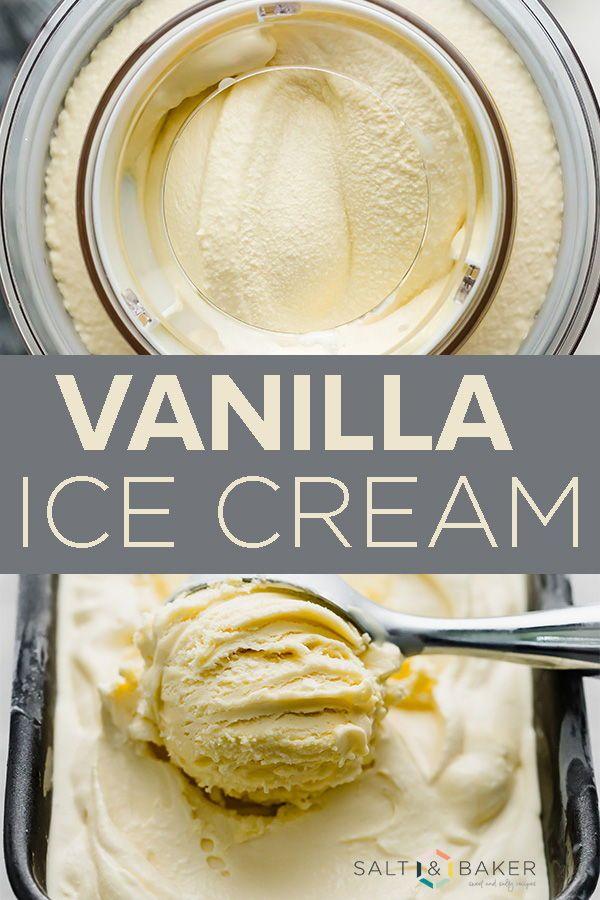 Homemade Vanilla Ice Cream Recipe (custard based) — Salt & Baker