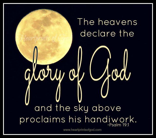 Heartprints of God.    Psalm 19:1