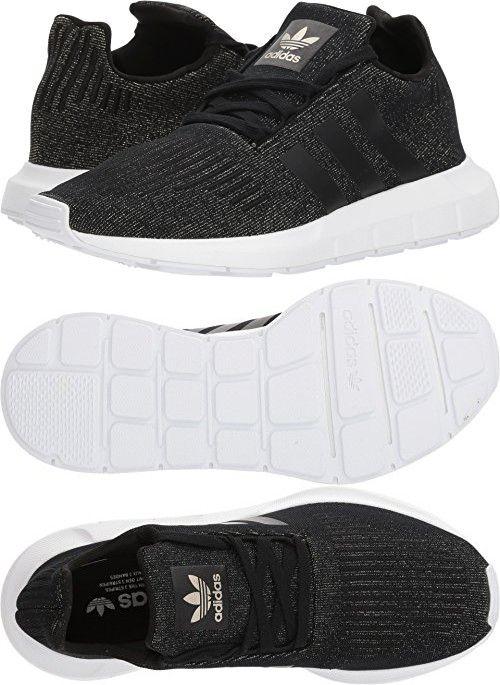 Adidas Originals  mujer 's SWIFT W corriendo zapatos, negro core negro / CORE negro zapatos, 45e3e2