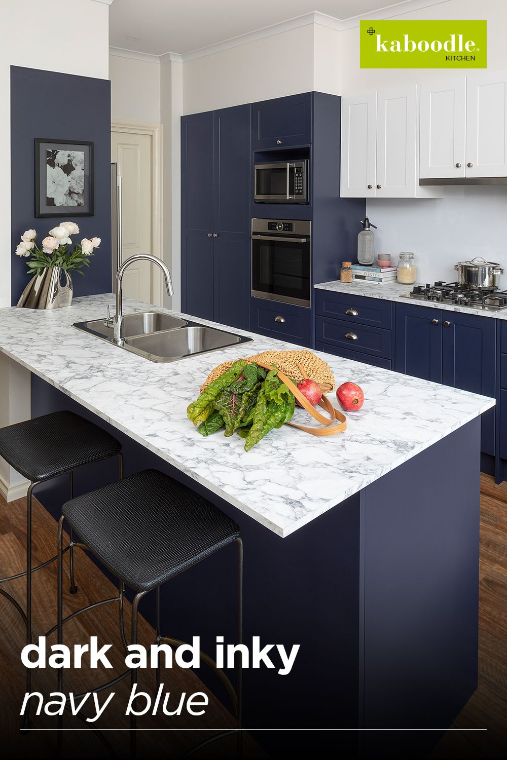 pin on inspiration gallery on kaboodle kitchen navy id=22765