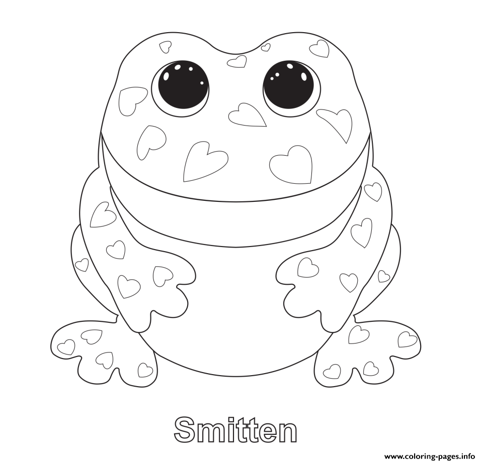 Print smitten beanie boo coloring pages | embroidery patterns ...
