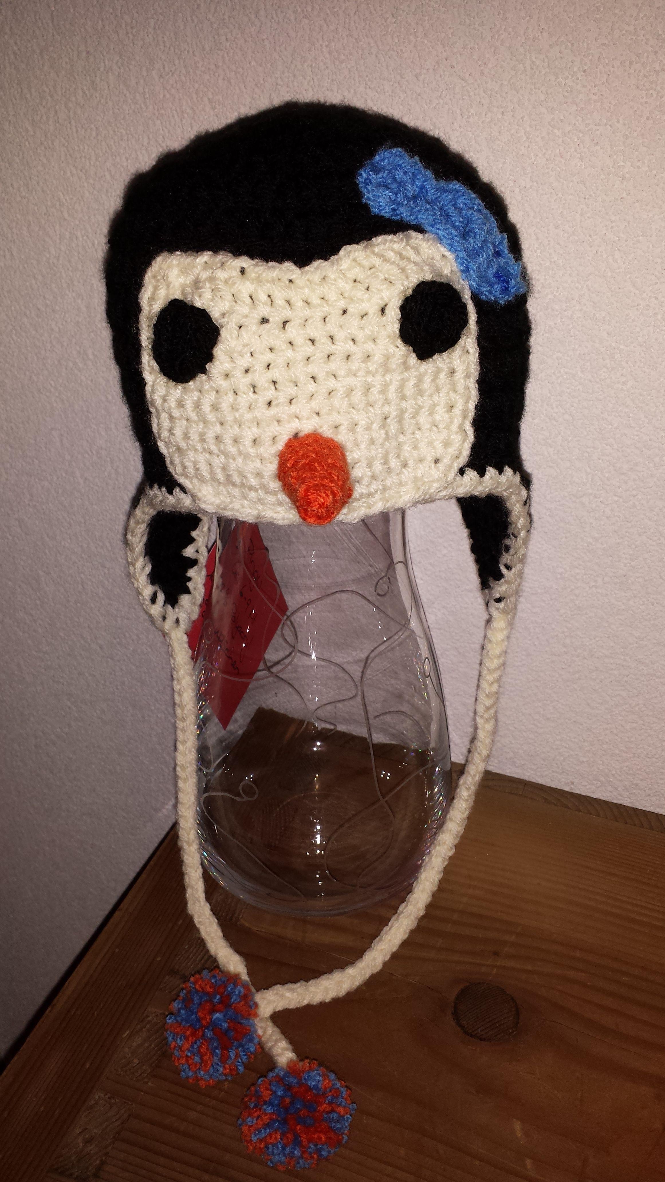 Pinguin Mütze, häkeln nach Anleitung: http://www.repeatcrafterme.com ...