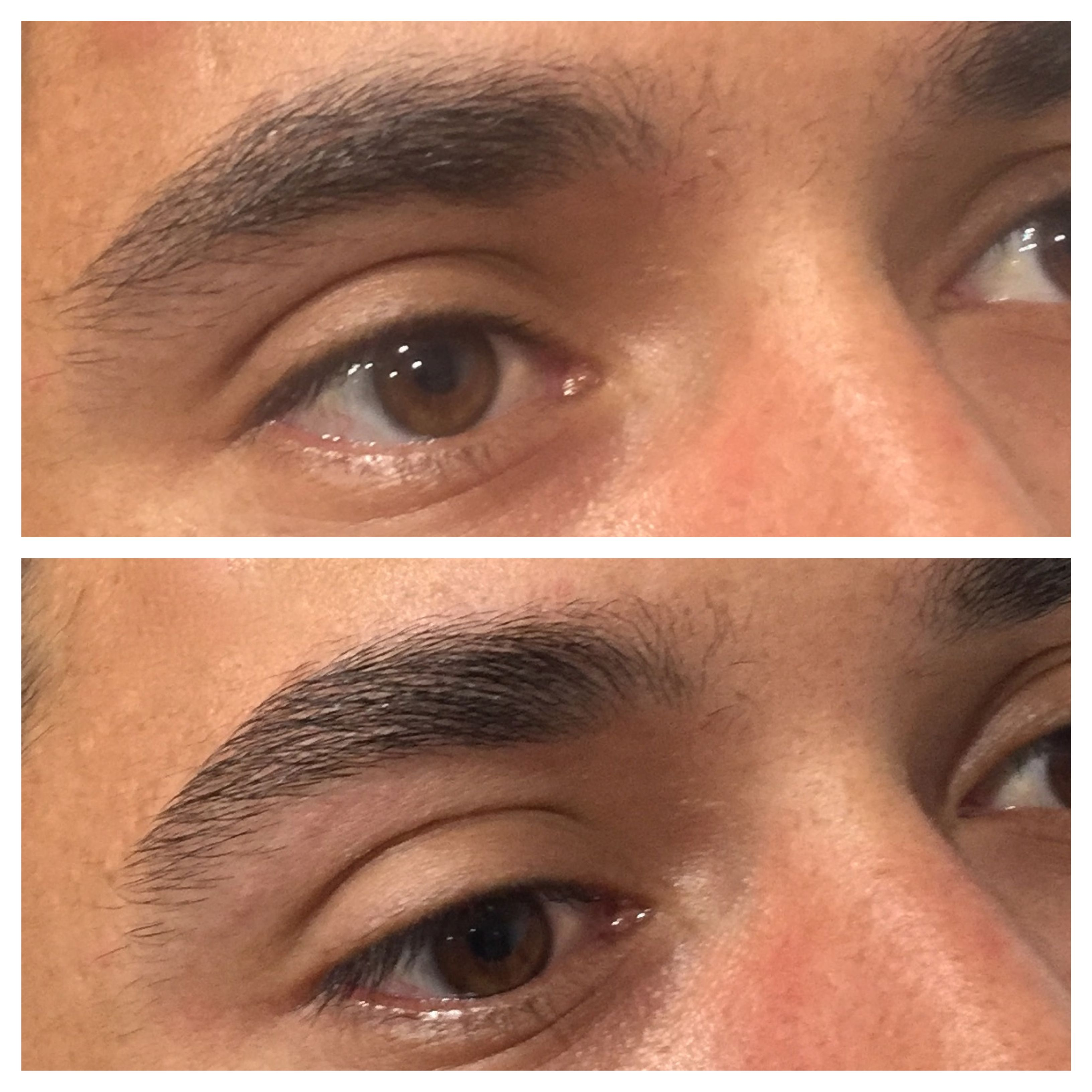 Before And After Brow Shaping Man Brows Should Be Shaped Subtly No