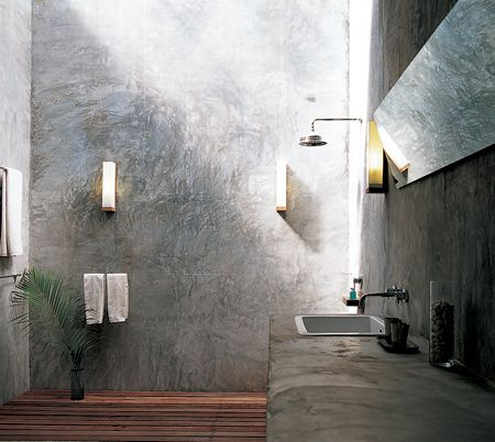 Kosta Lanta Eco Resort Concrete Bathroom Walls Outdoor