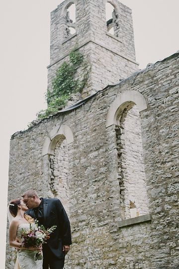 Abandoned church August wedding Waterloo, IL Photo from Ryan + Cassie collection by Charis Rowland Photography