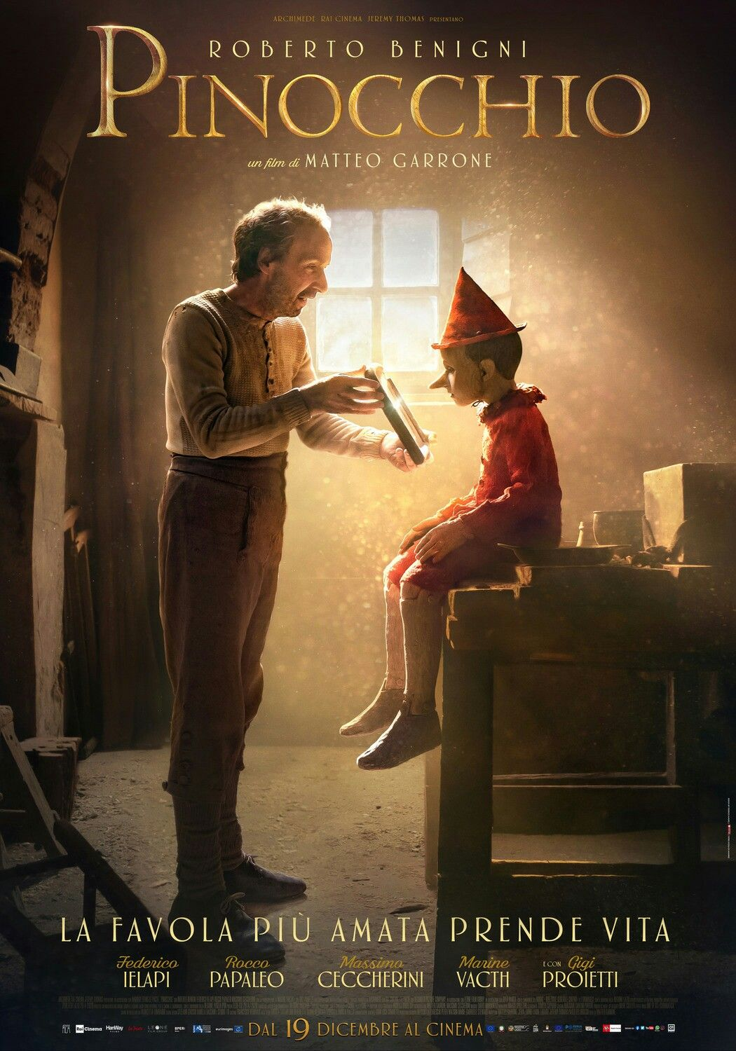 The Poster For The New Italian Version Of Pinocchio Pinocchio