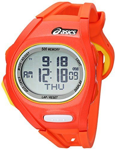 Cita relé Mentor  Asics Unisex CQAR0107 Orange and Yellow Digital Running Watch >>> More info  could be found at the image … | Asics, Asics running shoes womens, Running  shoes for men