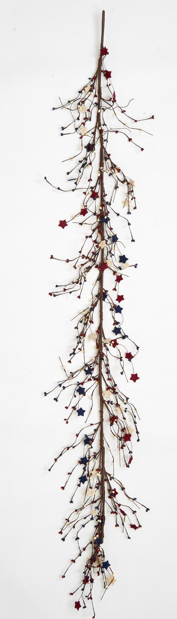 Stars and Berries Twig Garland