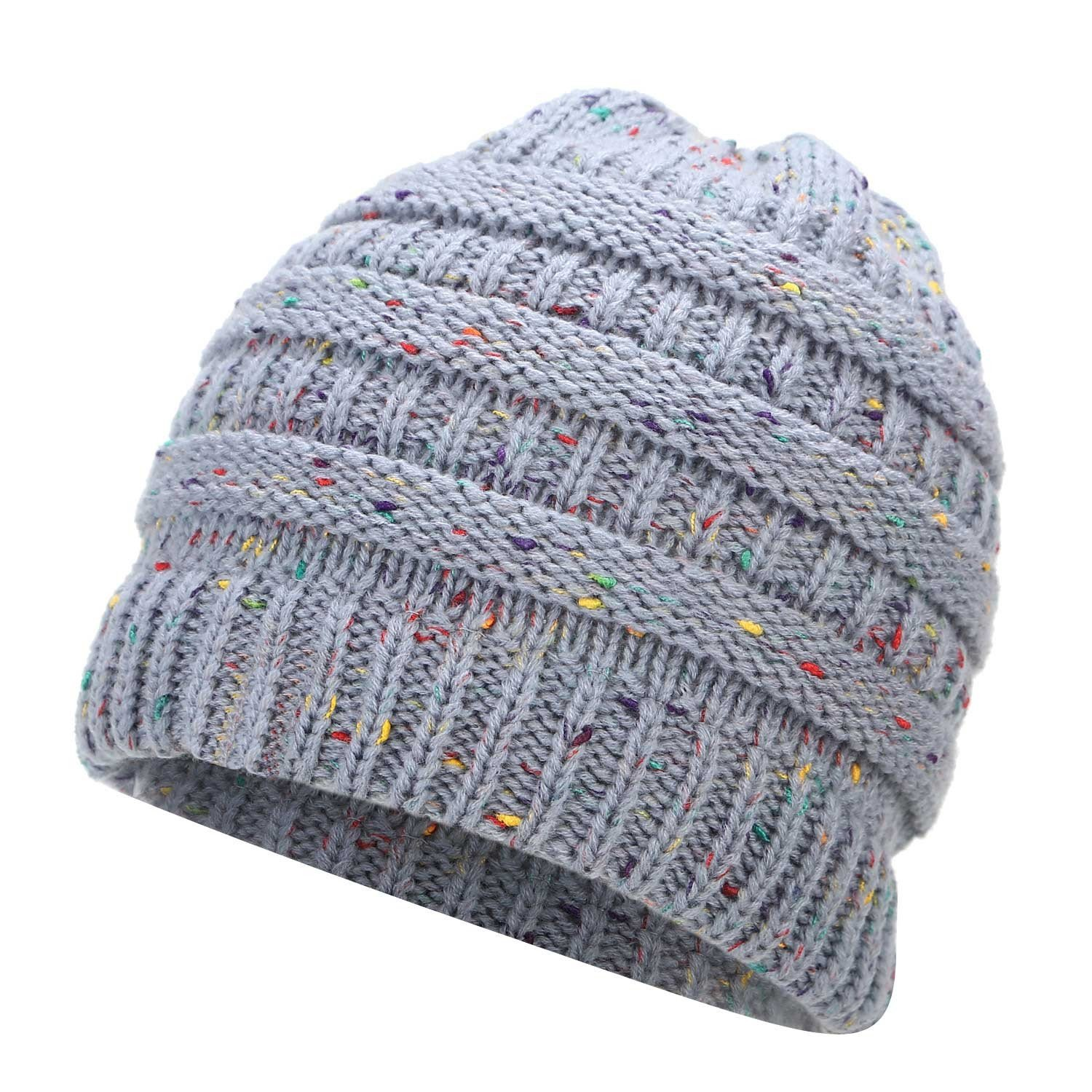 2a558fd3539d02 Ponytail Beanie Hat Winter Skullies Beanies Warm Caps Female Knitted  Stylish Hats For Ladies Fashion